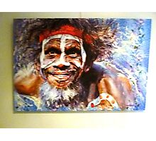 *Painting of Australian Aborigine - Daylesford Art Gallery - NOT FOR SALE* Photographic Print