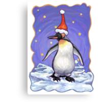 Penguin Christmas Canvas Print