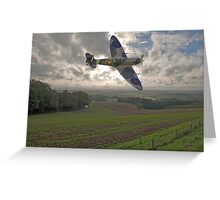 Spitfire Low Greeting Card