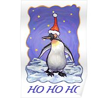 Penguin Christmas Card Poster
