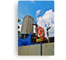 No Pedestrians Canvas Print