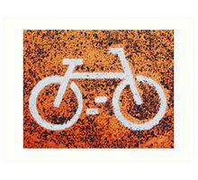 Bicycle sign Art Print
