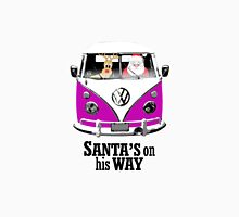 VW Camper Santa Father Christmas On Way Purple Unisex T-Shirt