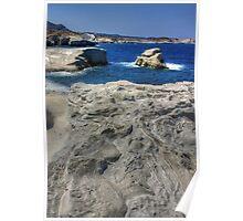 Sarakiniko - Milos Island, Greece Poster
