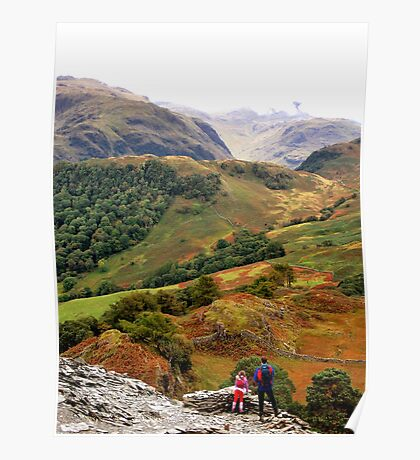 Borrowdale from Castle Crag Poster