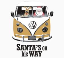 VW Camper Santa Father Christmas On Way Orange Kids Clothes