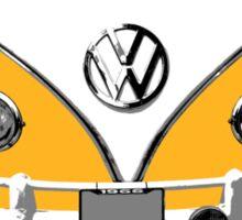 VW Camper Santa Father Christmas On Way Orange Sticker