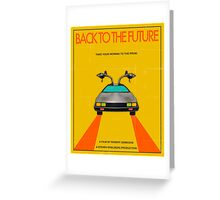 Back To The Future Movie Poster - Yellow Greeting Card
