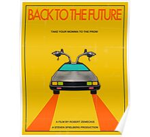 Back To The Future Movie Poster - Yellow Poster