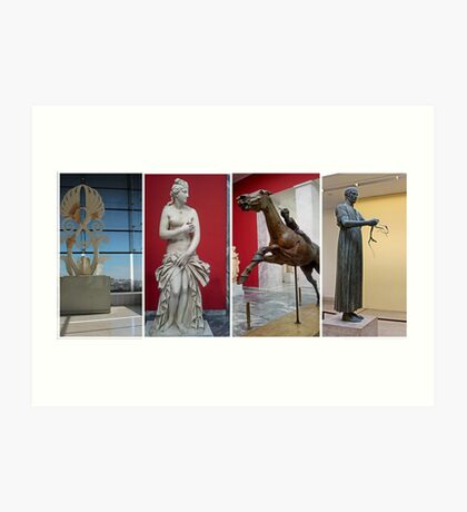 Ancient Greek Statues. Art Print