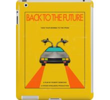 Back To The Future Movie Poster - Yellow iPad Case/Skin