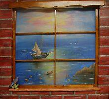 Brick Window by Mikki Alhart
