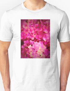 Pink Hydrangeas Unisex T-Shirt