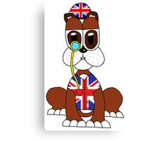 Ani-Mates British Bulldog Canvas Print
