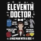 Eleventh Doctor (White Writing) by BethTheKilljoy