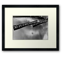 The truth about art. Framed Print