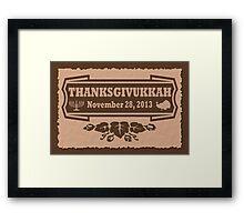 Thanksgiving meets Hanukkah Thanksgivukkah Print Framed Print