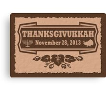 Thanksgiving meets Hanukkah Thanksgivukkah Print Canvas Print
