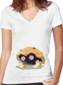 Cutout Kabuto Women's Fitted V-Neck T-Shirt