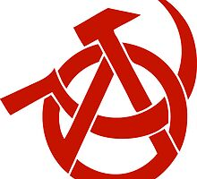HAMMER  SICKLE ANARCHY LOGO by SofiaYoushi