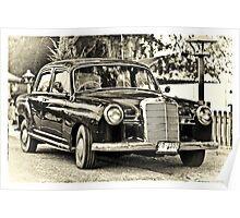 Mercedes Benz Vintage Poster