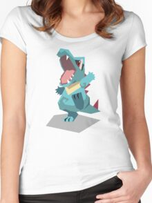 Cutout Totodile Women's Fitted Scoop T-Shirt
