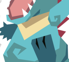 Cutout Totodile Sticker