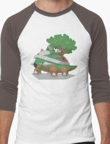 Cutout Torterra Men's Baseball ¾ T-Shirt