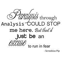 Paralysis through analysis Photographic Print