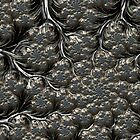 Metal Cauliflower - Fractal Image by Glen Allen