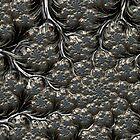 Metal Cauliflower - Fractal Image by Glen Allen