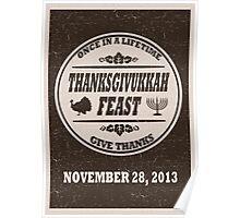 Thanksgivukkah Print - Thanksgiving meets Hanukkah  Poster
