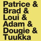 Boston Bruins 2nd Line b & Goalie - Helvetica - Black Text by msquared64