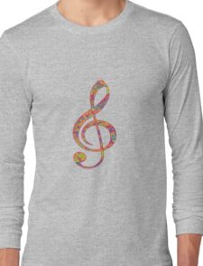 Psychedelic Music Symbol Long Sleeve T-Shirt