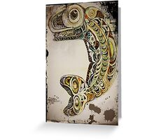 Native American Whale Totem Greeting Card
