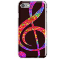 Psychedelic Music Symbol iPhone Case/Skin