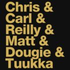 Boston Bruins 3rd Line B & Goalie - Helvetica - Gold Text by msquared64