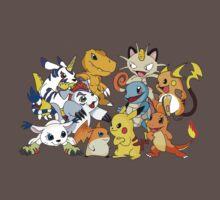 Pokemon vs Digimon Kids Clothes