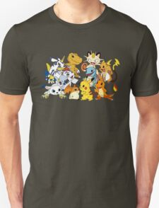 Pokemon vs Digimon T-Shirt