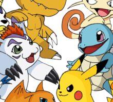 Pokemon vs Digimon Sticker