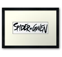 Spider Gwen Logo Framed Print