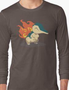 Cutout Cyndaquil Long Sleeve T-Shirt