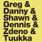Boston Bruins 4th Line A & Goalie - Helvetica - Black Text by msquared64