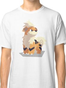 Cutout Growlithe Classic T-Shirt