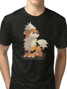 Cutout Growlithe Tri-blend T-Shirt
