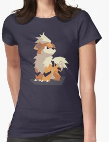 Cutout Growlithe Womens Fitted T-Shirt