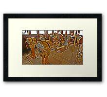 Hands on deck Framed Print