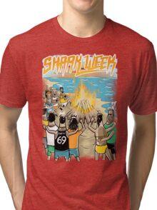 Beach Party w Brown Bottles - Colour Tri-blend T-Shirt