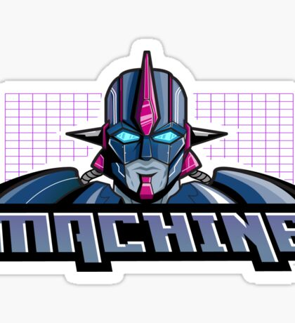 Machine Retro 1980's Cartoon Design Sticker