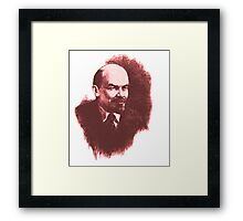 LENIN RED PORTRET  Framed Print